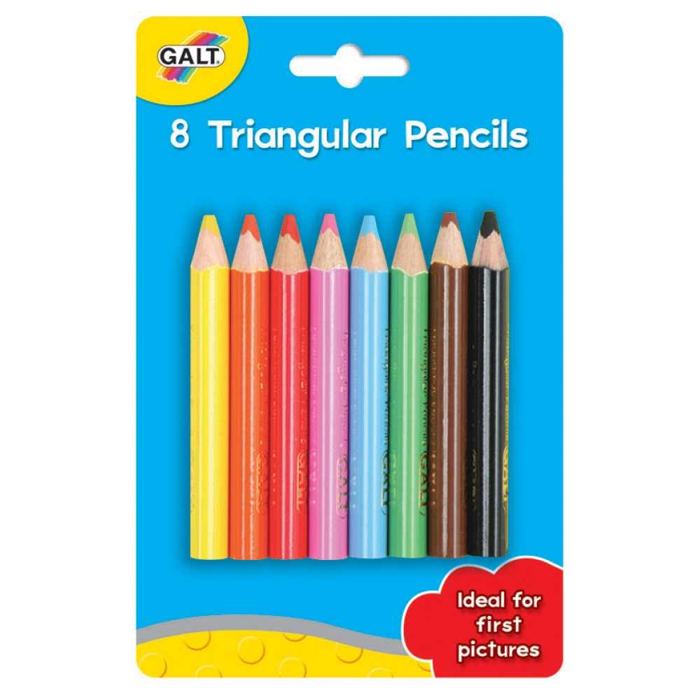 Set 8 creioane forma triunghiulara