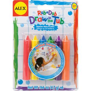 Creioane pastelate pentru desenat in baie