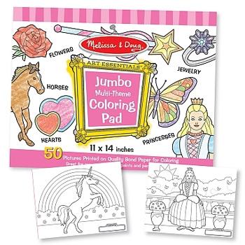 Caiet jumbo cu planse pentru colorat- roz