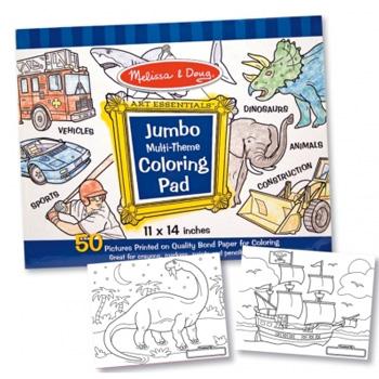 Caiet jumbo cu planse pentru colorat -albastru